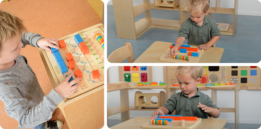 A board specially designed for 1-10 counting, sequencing, odd and even number learning.