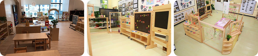 A easy-to-carry sturdy writing board, children can stand either side and paint/write their portraits.
