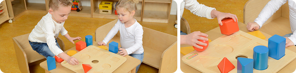 It helps children develop shape and geometric form recognition.