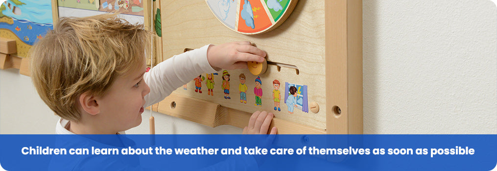 Children can learn about the weather and take care of themselves as soon as possible