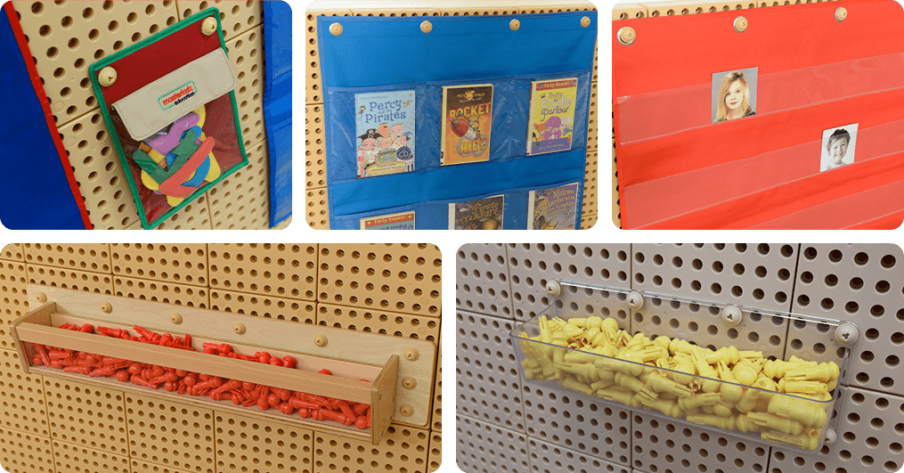 Discover More - Use more of our STEM Walls accessories to store more items!