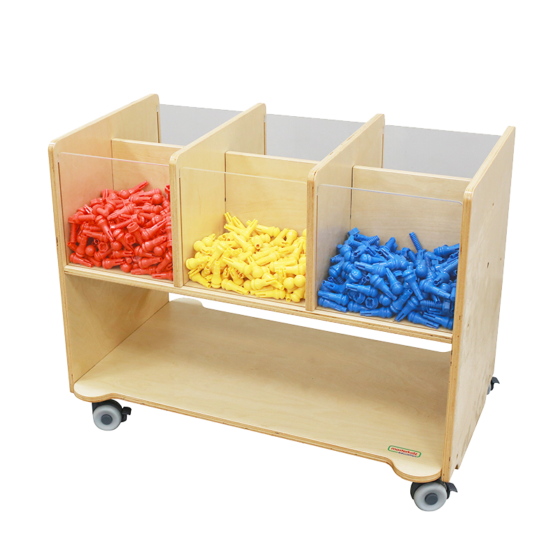 Visible-Compartment Storage Station (6 Compartments)