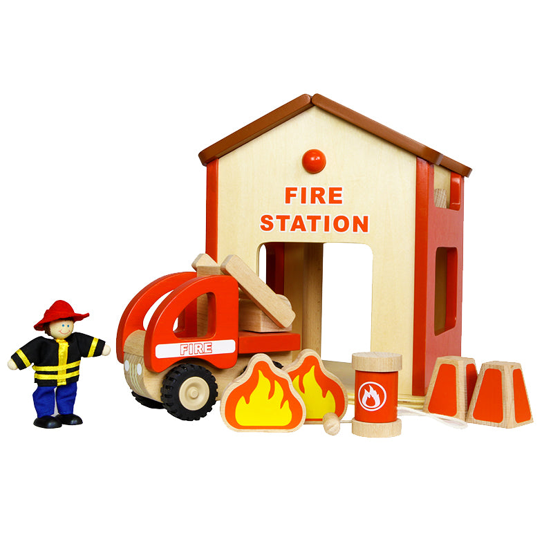 Fire Station Mini Play Set Pretend Play Developmental Toys