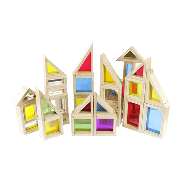 Assorted Rainbow/ Mirror Block Set Set 29 Piece