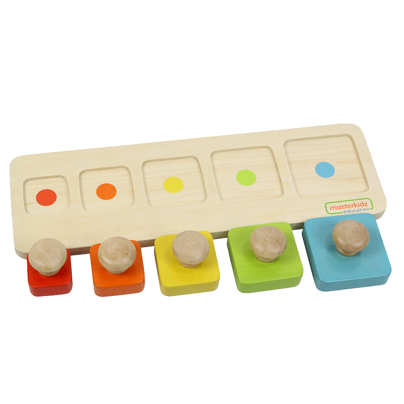 Peg Puzzle in Size and Color Matching