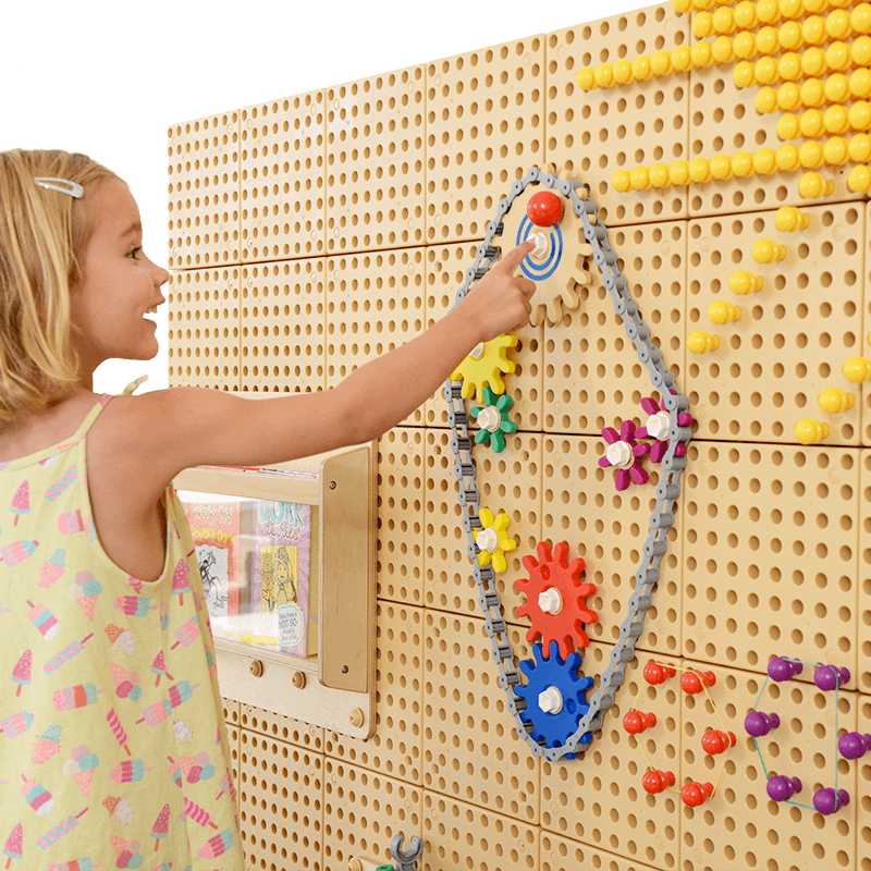 STEM WALL Gears and Chain - 39 Piece Set