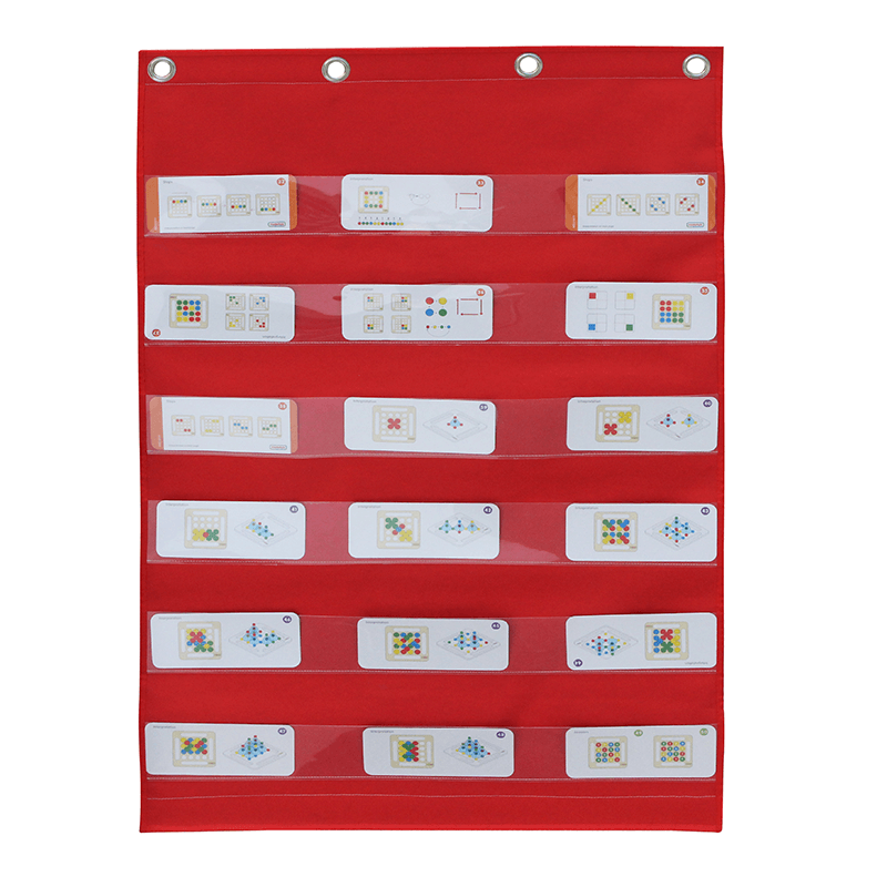 Learning Card Pocket Chart and Velcro Attaching Fabric Surface Double-Sided Hanger Cloth