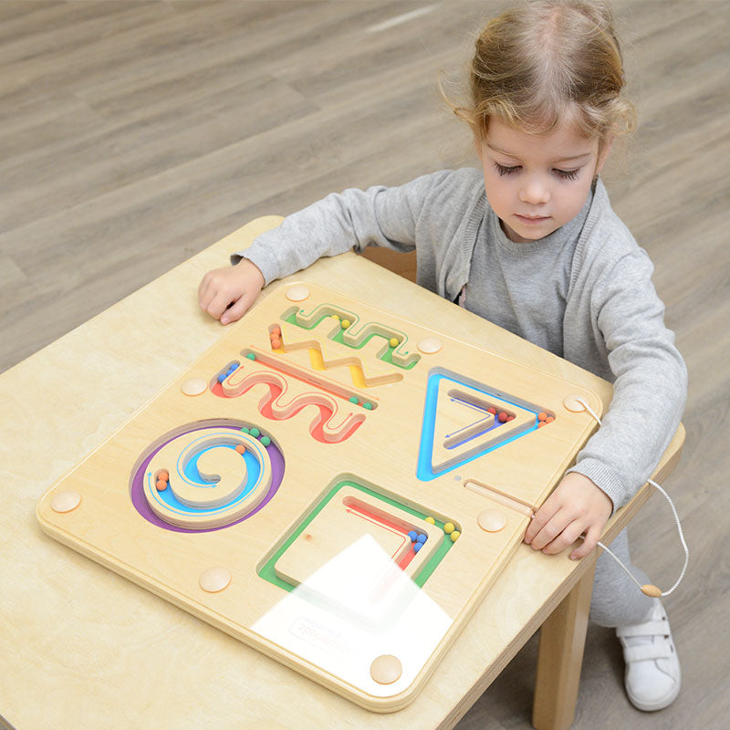 Magnetic Sliding Maze in Lines and Shapes