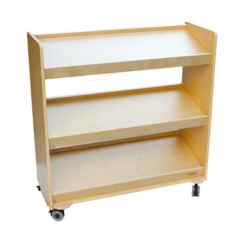 "31.50"" x 34.65"" Mobile Inclined Shelving Unit"