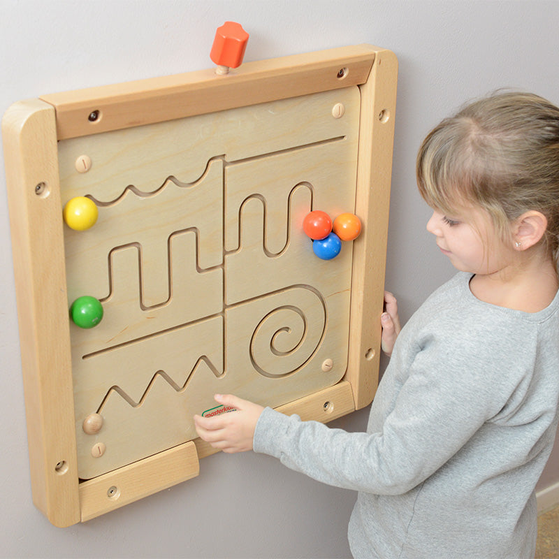 Waves and Lines Sliding Maze Montessori Educational Toys
