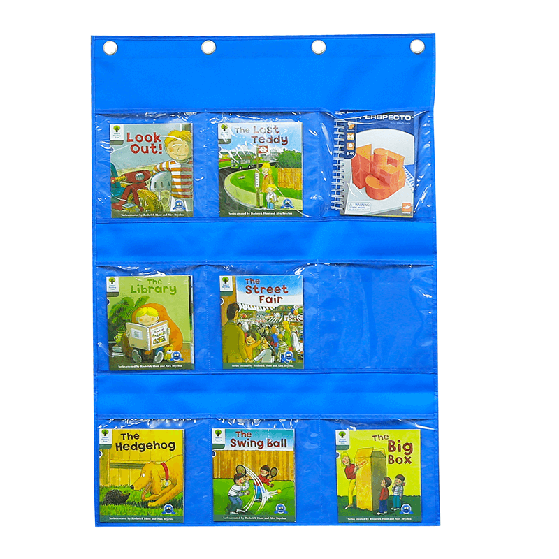 A4-Sized Pocket Chart and Velcro Attaching Fabric Surface Double-Sided Hanger Cloth