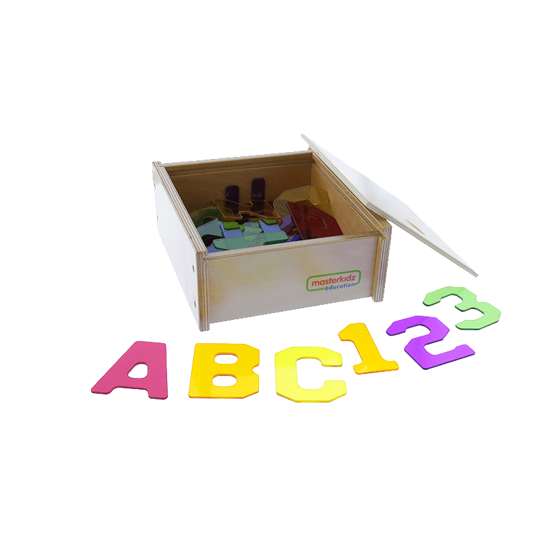 38 Pieces Translucent Numbers and Alphabets Set