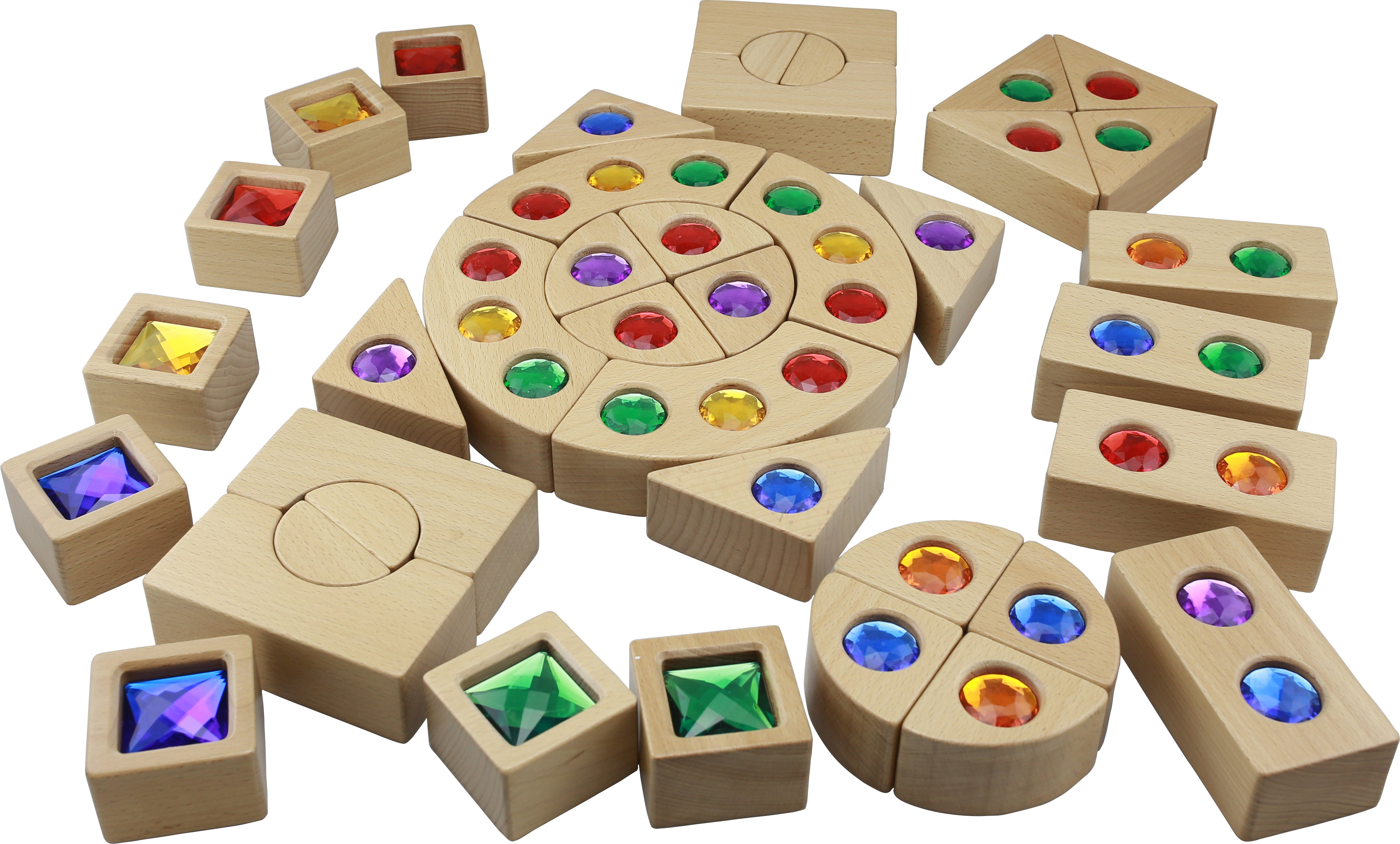 Gemstone blocks 40 Piece Set