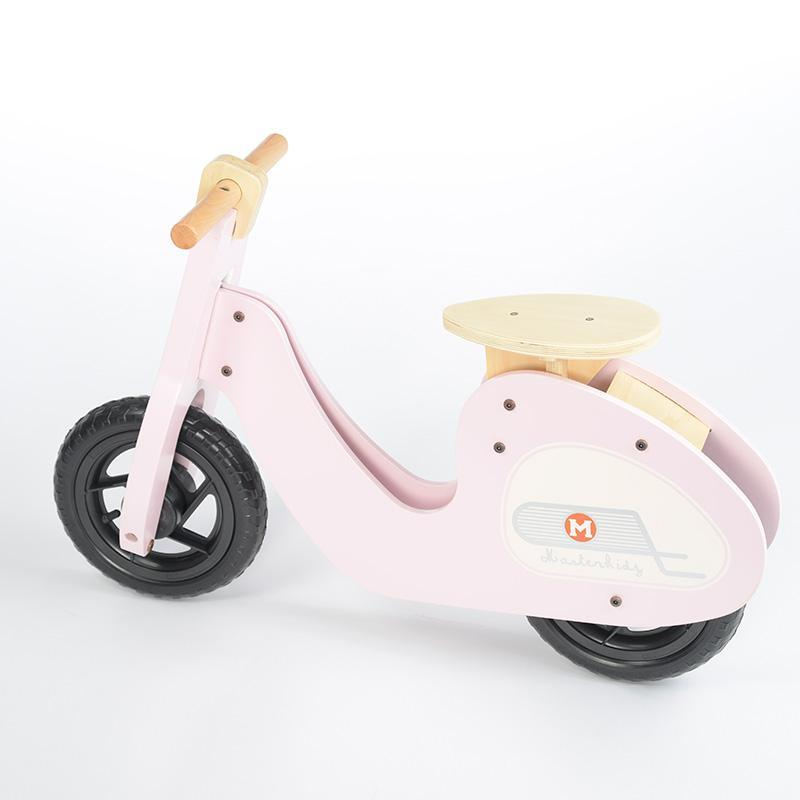 Wooden Balance Bike Retro-Styled Age 3+ | Green/Pink
