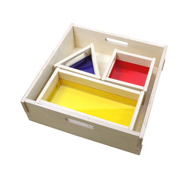 Creative Play Translucent Color Tray Blocks 3 Piece