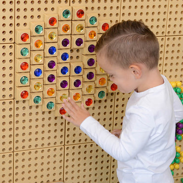 STEM WALL Gem Stone Blocks (Mixed Colours) - 72 Piece Set