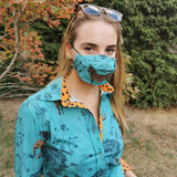 3 Pack Triple Layer Cotton Face Masks With Nose Wire Safari-Contemporary Fashion-Sustainable Fashion-Ethical Designer-Contemporaryfashion.com