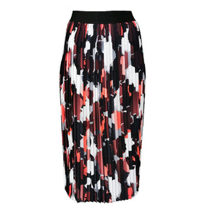 Abstract Camo Print Midi Pleated Skirt-Contemporary Fashion-Sustainable Fashion-Ethical Designer-Contemporaryfashion.com