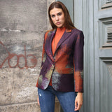 Abstract Digital Print Blazer Jacket-Contemporary Fashion-Sustainable Fashion-Ethical Designer-Contemporaryfashion.com
