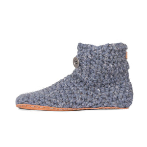 Bamboo Wool High Top Slippers for Men in Charcoal-Contemporary Fashion-Sustainable Fashion-Ethical Designer-Contemporaryfashion.com