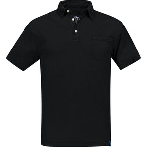 Black DAIQUIRI Organic Cotton Polo-Contemporary Fashion-Sustainable Fashion-Ethical Designer-Contemporaryfashion.com