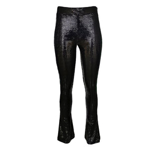 Black Sequined Flared Trousers-Contemporary Fashion-Sustainable Fashion-Ethical Designer-Contemporaryfashion.com