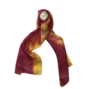 Crimson and Yellow Scarf-Contemporary Fashion-Sustainable Fashion-Ethical Designer-Contemporaryfashion.com
