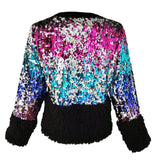 Double-Sided Sequined Bomber Jacket With Velvet & Faux-Fur Details-Contemporary Fashion-Sustainable Fashion-Ethical Designer-Contemporaryfashion.com