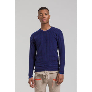 Gilston Cashmere Jumper – Navy-Contemporary Fashion-Sustainable Fashion-Ethical Designer-Contemporaryfashion.com
