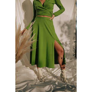 GREEN TONGASS SKIRT-Contemporary Fashion-Sustainable Fashion-Ethical Designer-Contemporaryfashion.com