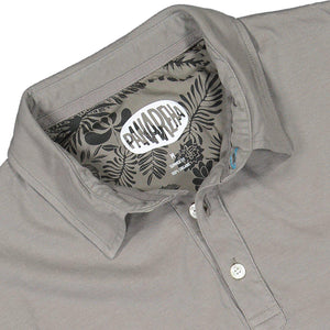 Grey DAIQUIRI Organic Cotton Polo-Contemporary Fashion-Sustainable Fashion-Ethical Designer-Contemporaryfashion.com