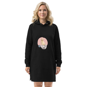 Kitten in Space Hoodie Home Dress-Contemporary Fashion-Sustainable Fashion-Ethical Designer-Contemporaryfashion.com