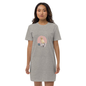 Kitten in Space Organic Cotton Night Dress-Contemporary Fashion-Sustainable Fashion-Ethical Designer-Contemporaryfashion.com