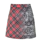 Leopard & Tartan Print Mini Skirt-Contemporary Fashion-Sustainable Fashion-Ethical Designer-Contemporaryfashion.com