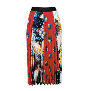 Multi-Color & Print Pleated Midi Skirt-Contemporary Fashion-Sustainable Fashion-Ethical Designer-Contemporaryfashion.com