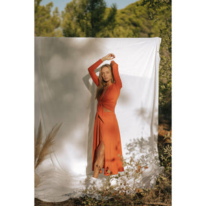 ORANGE TONGASS SKIRT-Contemporary Fashion-Sustainable Fashion-Ethical Designer-Contemporaryfashion.com