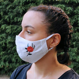 Pack Of 3-Adjustable/Triple Layer Cotton Face Masks With Nose Wire & Embroidery Details-Contemporary Fashion-Sustainable Fashion-Ethical Designer-Contemporaryfashion.com