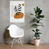Plant & Sun Framed poster-Contemporary Fashion-Sustainable Fashion-Ethical Designer-Contemporaryfashion.com