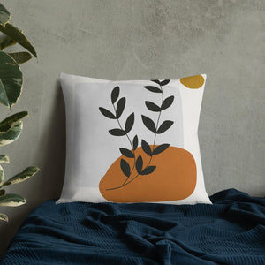 Plant & Sun Premium Pillow-Contemporary Fashion-Sustainable Fashion-Ethical Designer-Contemporaryfashion.com