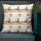 Sun and Boat Premium Pillow-Contemporary Fashion-Sustainable Fashion-Ethical Designer-Contemporaryfashion.com