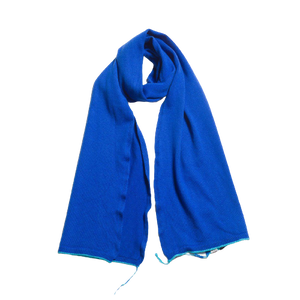 The Danvers Cashmere Scarf – Blue-Contemporary Fashion-Sustainable Fashion-Ethical Designer-Contemporaryfashion.com