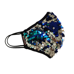 Triple Layer Sequined Face Mask - Multicolor-Contemporary Fashion-Sustainable Fashion-Ethical Designer-Contemporaryfashion.com