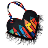 Upcycled Digital House Print Heart Tote Bag-Contemporary Fashion-Sustainable Fashion-Ethical Designer-Contemporaryfashion.com