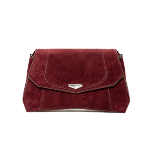VERUS Clutch // Burgundy Red-Contemporary Fashion-Sustainable Fashion-Ethical Designer-Contemporaryfashion.com