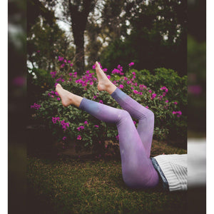 Yoga Leggings in Galaxy Pattern-Contemporary Fashion-Sustainable Fashion-Ethical Designer-Contemporaryfashion.com