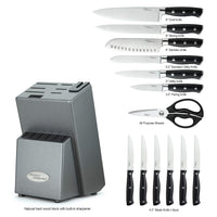 Marco Almond®14 pcs Japanese Stainless Steel Knives Set-KYA31
