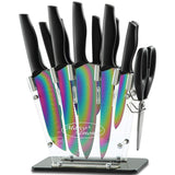 Marco Almond®14 pcs Rainbow Titanium Knives Set—KYA35