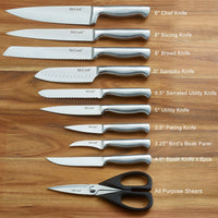 McCook®16 pcs Stainless Steel Hollow Handle Knives Set-MC38B