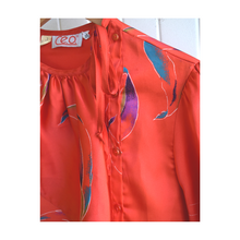 Load image into Gallery viewer, Silky Red Patterned Blouse
