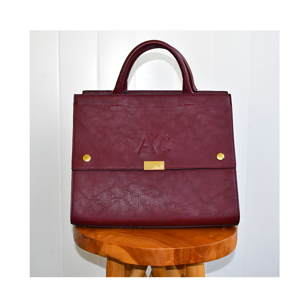 AxC Structured Oxblood Handbag